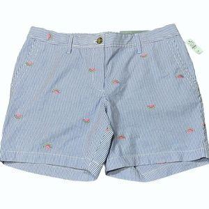 Talbots Girlfriend Chino Shorts Women Size 10P NWT
